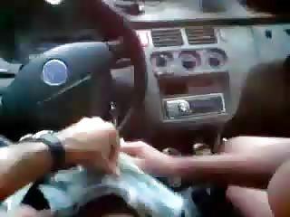 Auto-stoppeuse a faim de bite