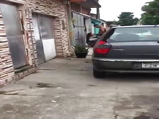 Petite pipe rapide en pleine rue