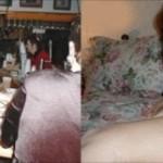 Mon ex femme à poil les cuisses écartées