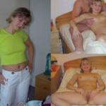 Mon ex m'a largué la voici à poil sur le lit