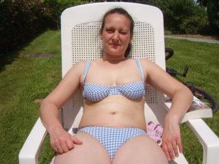 Je prends mon bain de soleil